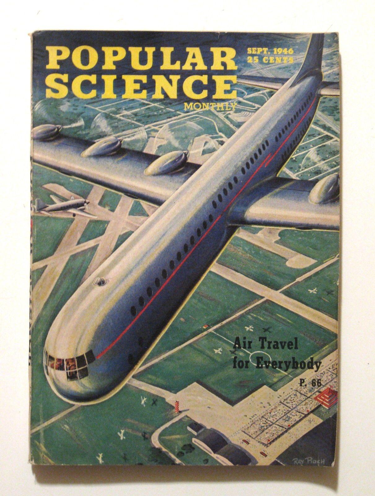 1946 Futuristic Air Travel Airplane Design Popular Science