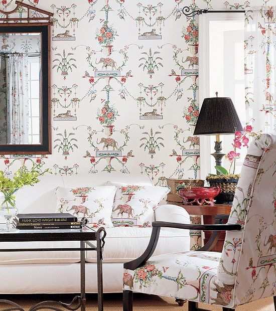 Chinoiserie Chic: Thibaut Elephants, Monkeys, and Tigers