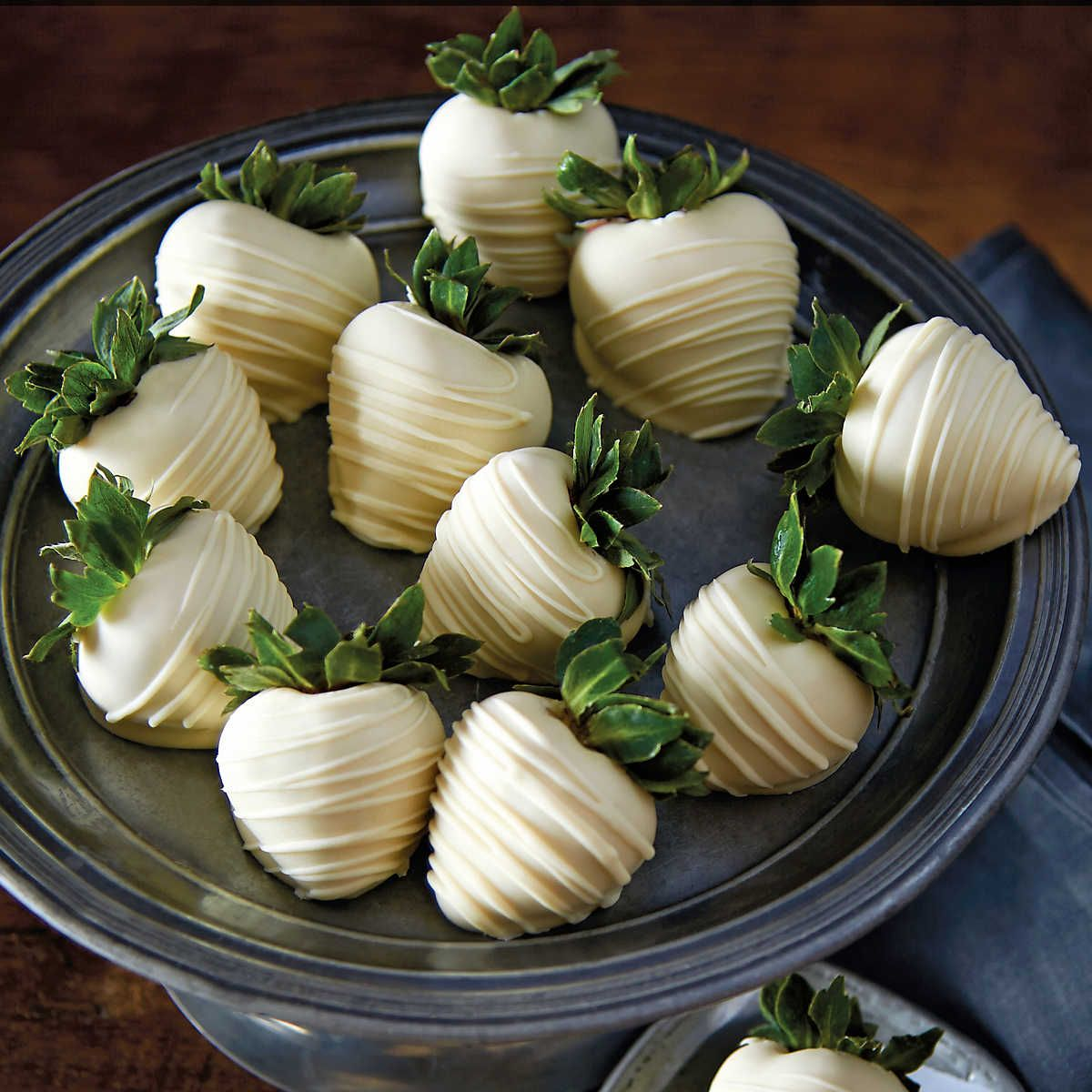 White Chocolate-Covered Strawberries Delivery - One Dozen   Food ...