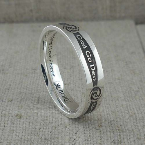 Sterling+Silver+Narrow+Siorai+Promise+Wedding+Ring