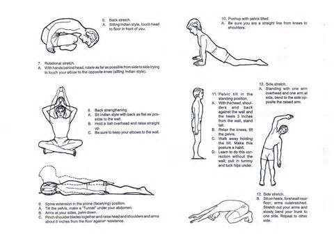 children posture correction exercise  yahoo image search
