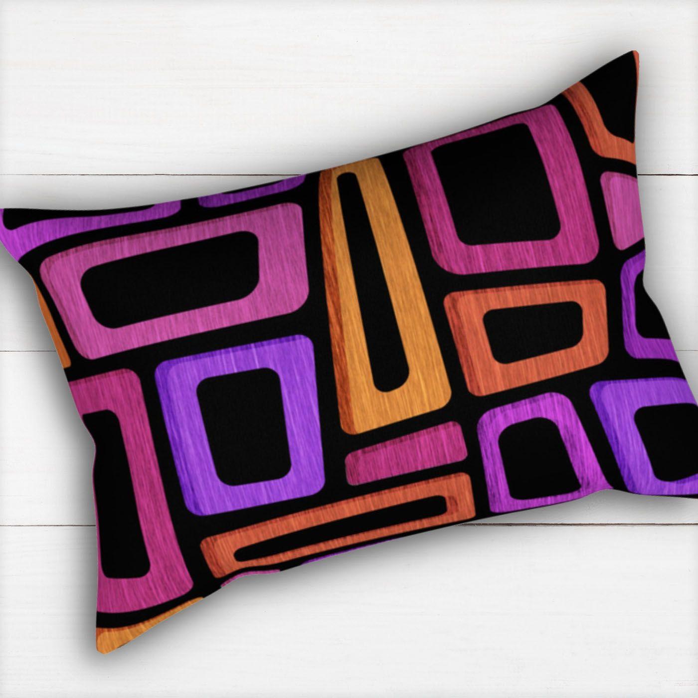 Mid century modern tiki throw pillow by modern tropical studios
