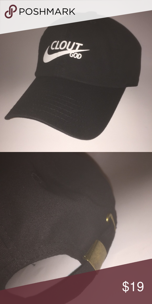 191cb0cd6a0eb Clout God Dad Hat NWT This Black Strapback Dad Hat is adjustable with tuck  pocket NEW   Ignore