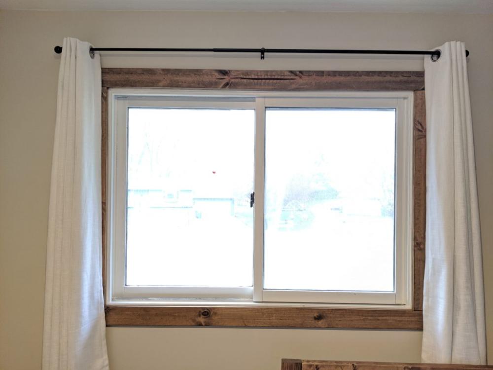 Easy Diy Farmhouse Interior Window Trim In 2020 Interior Window Trim Farmhouse Window Trim Diy Window Trim