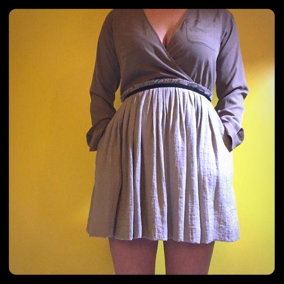 "Armani exchange dress Never worn Armani exchange dress. V-neck. Hits upper thigh  I'm 5'6"". Armani Exchange Dresses Mini"