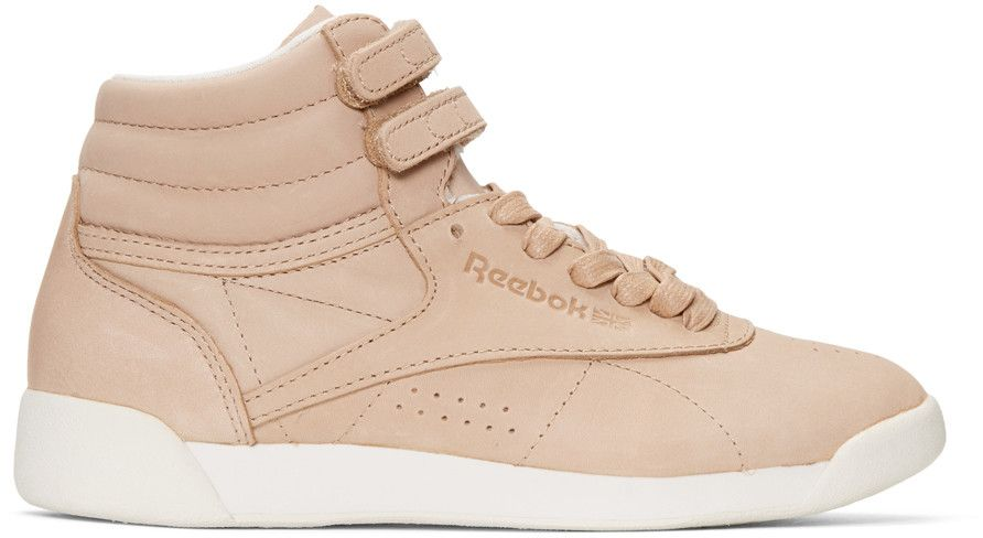 REEBOK Pink Face Edition Freestyle High Top Sneakers