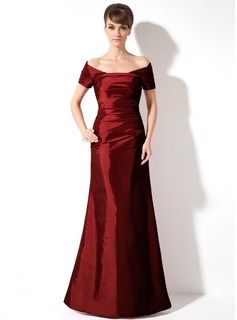 Special Occasion Dresses - $144.99 - Mermaid Off-the-Shoulder Floor-Length Taffeta Holiday Dress With Ruffle  http://www.dressfirst.com/Mermaid-Off-The-Shoulder-Floor-Length-Taffeta-Holiday-Dress-With-Ruffle-020025961-g25961