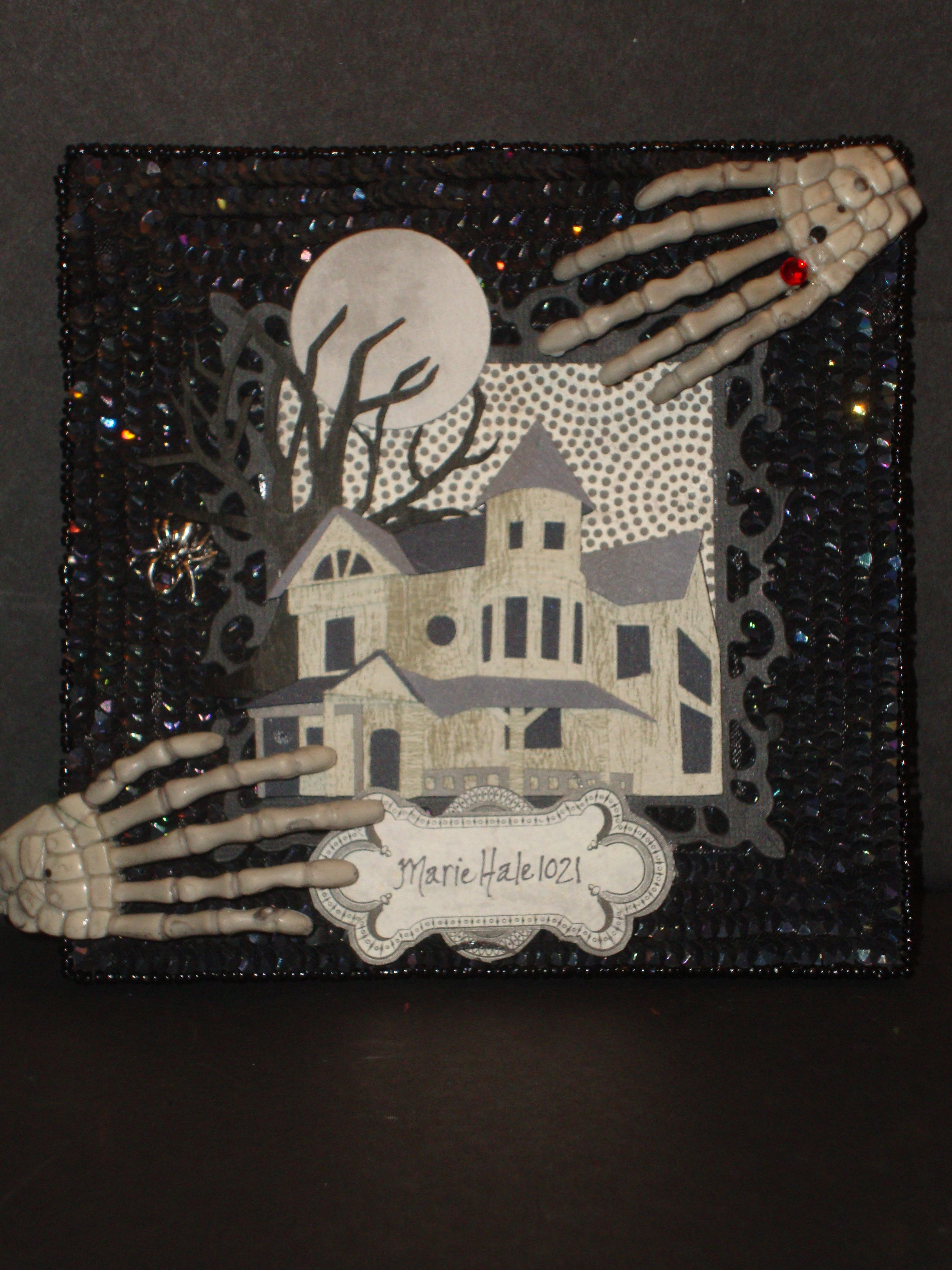 How to make scrapbook youtube - My Halloween Altered Frame I Made For My Youtube Channel I Always See Frames