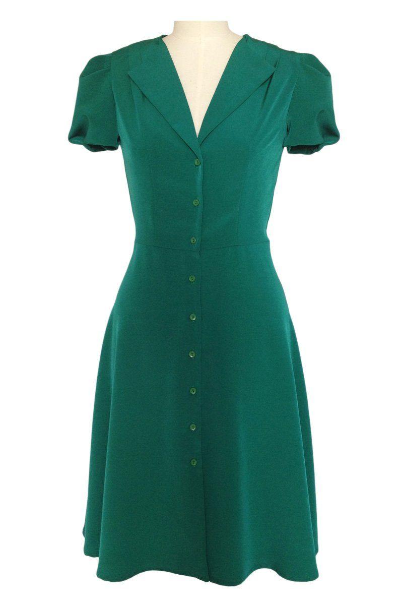 Vintage Style Dresses: 30s, 40s, 50s, and 60s   1940s tea dress ...