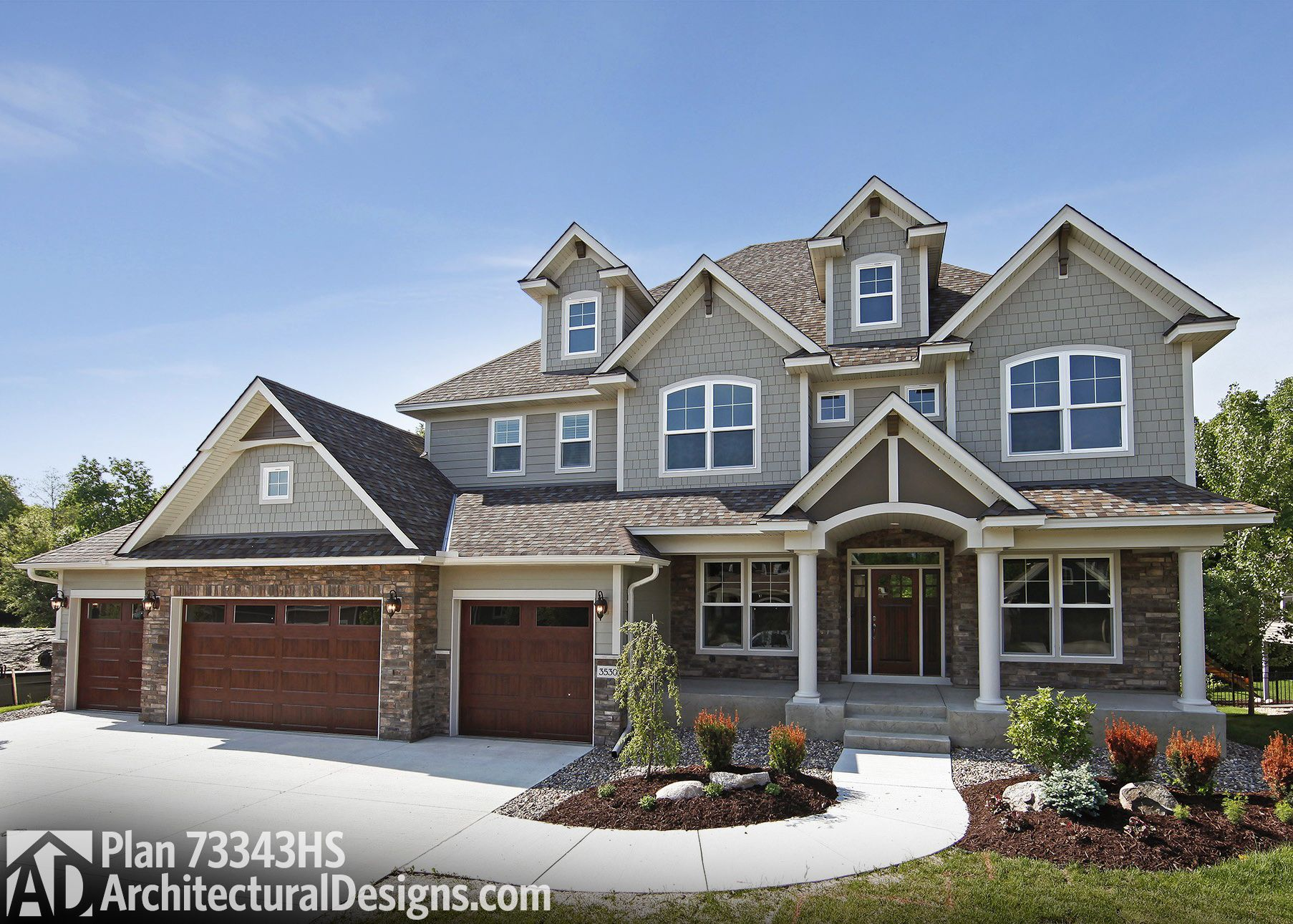 Plan 73343HS: Storybook House Plan With 4 Car Garage