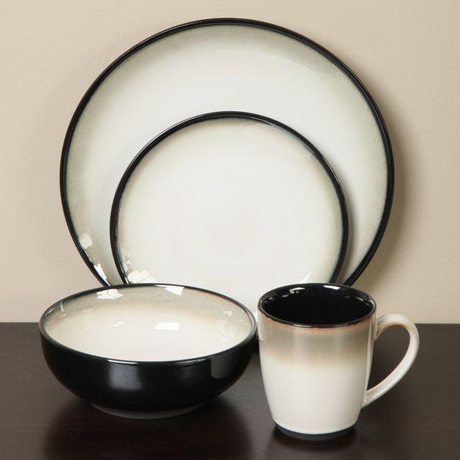 Sango Nova Black 16 piece Dinnerware... $49.95 & Sango Nova Black 16 piece Dinnerware... $49.95 | Fashion Items I ...