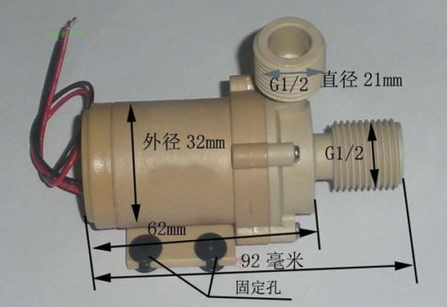12v Solar Hot Water Pump Circulation High Quality Food Grade 212 F W Coupler Hardware Food Grade Water Pumps