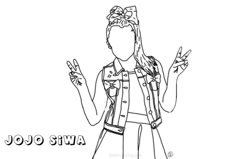 Cute Jojo Siwa Coloring Pages 101 Coloring In 2020 Coloring Pages Jojo Siwa Love Coloring Pages