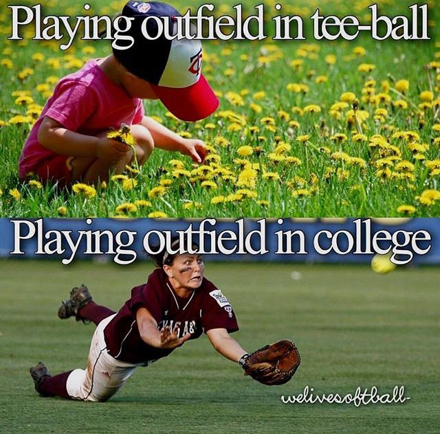 Even In Junior High You Actually Get Balls The Outfield Softball Things Stuff