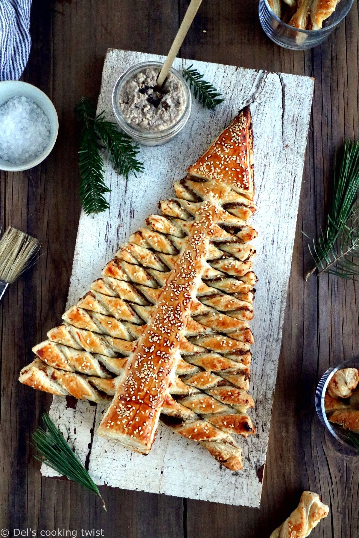Puff Pastry Christmas Tree Appetizer   Recipe   Holiday ...