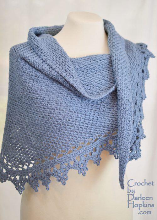 crochet pattern, Black Raspberry Shawl by Darleen Hopkins #CbyDH