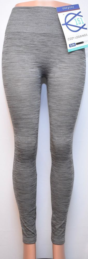 d90c77f1316125 One 5 One Fleece Lined Cozy Leggings, Silver Color, S/M Size #One5One  #Casual | Women's Sports Apparel | Silver color, Leggings, Sport outfits