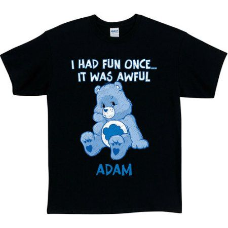 Personalized Blue Care Bear T-Shirt