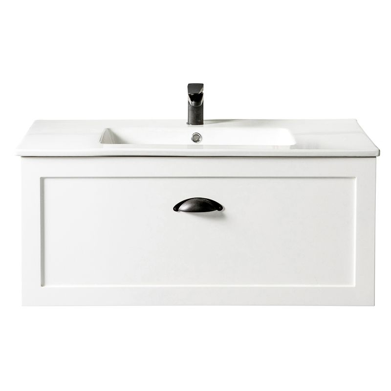 Cibo Design 900mm White Ceramic Top Windsor Vanity Unit Vanity Units Wall Hung Bathroom Vanities Vanity