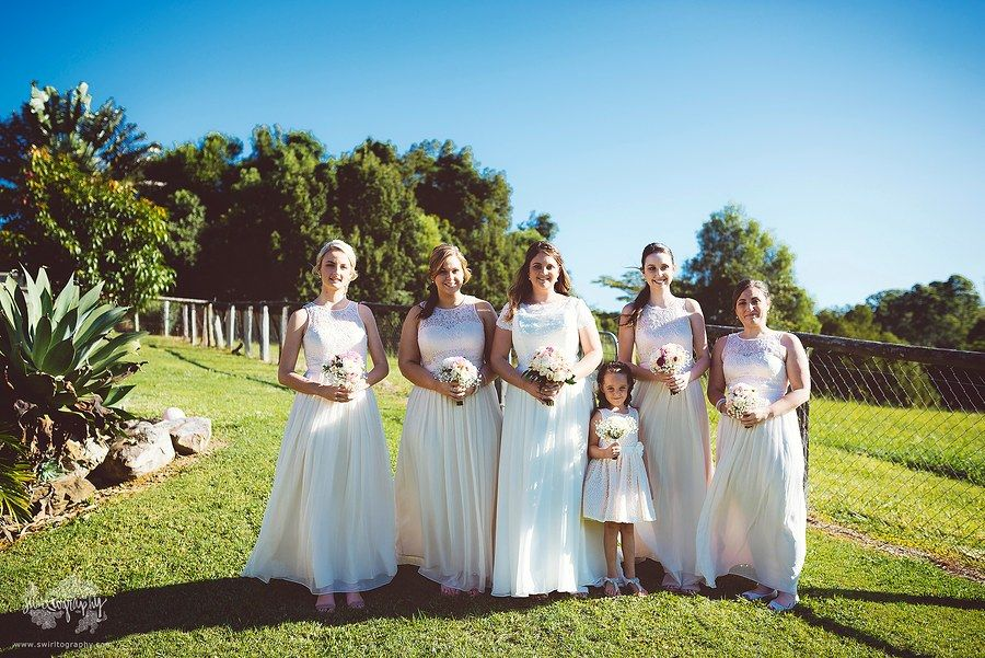 The girls.  Noosa wedding photographer © Swirltography2015 - http://www.swirltography.com