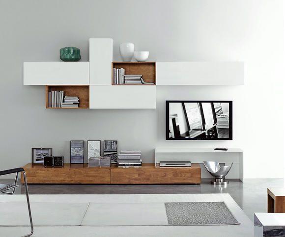 Massivholz Wohnwand 1 Wohnen Wohnzimmerschranke Wohnzimmerwand