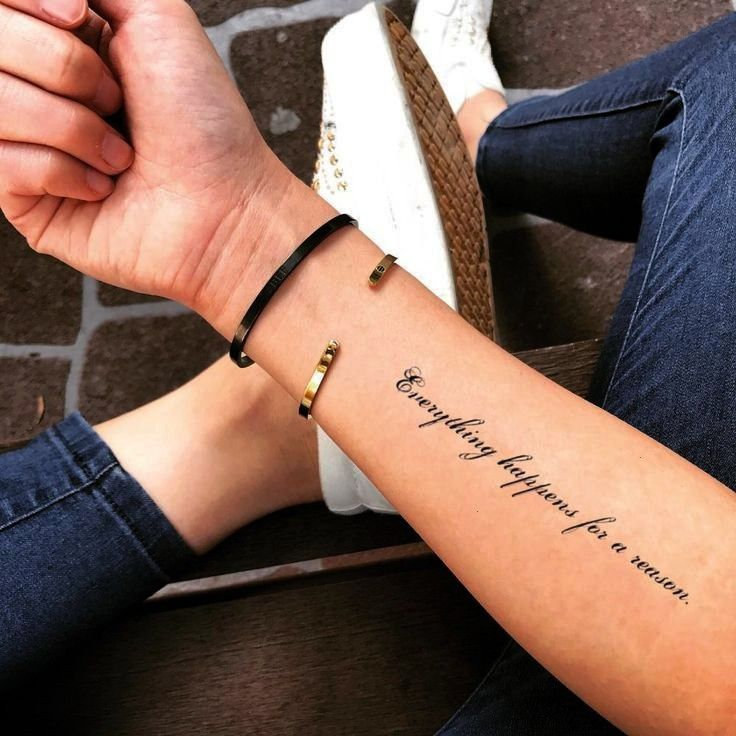 Happens For A Reason Famous Quote Temporary Tattoo Sticker Set of 2  Everything Happens For A Reason Famous Quote Temporary Tattoo Sticker Set of 2   Everything Happens F...