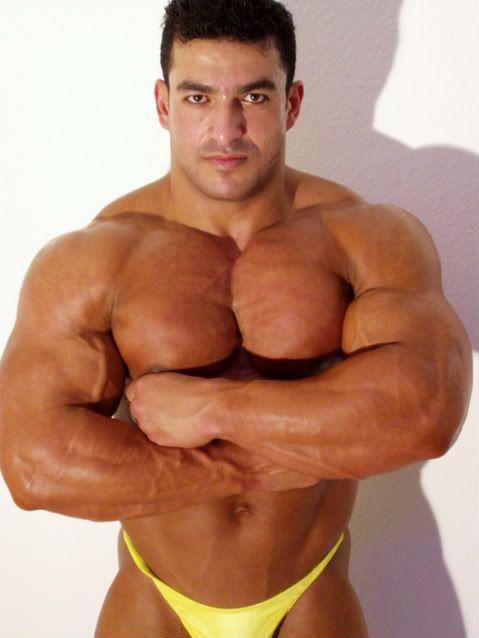 Muscle gym buddies
