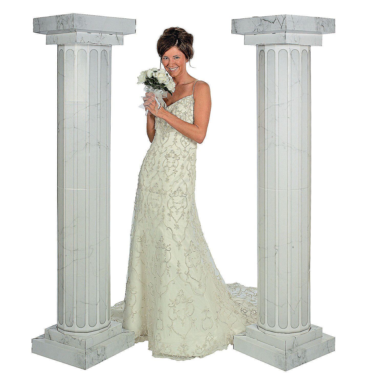 Wedding decorations inside church  MarbleLook Fluted Columns   ft  Greek And Roman Theme