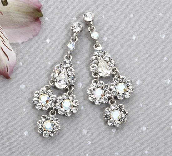 Austrian Crystal Chandelier Earrings: The Jewel Box