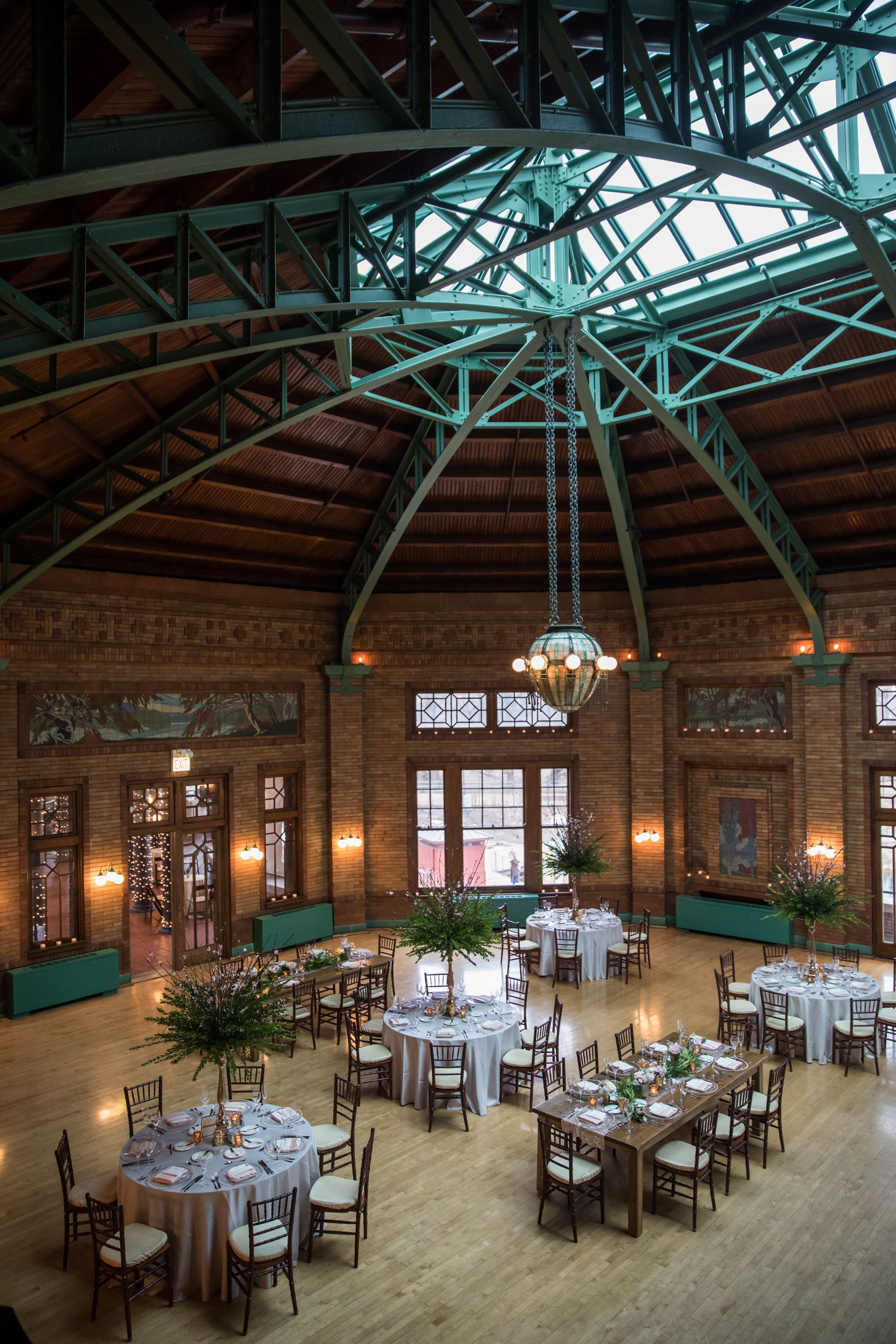 An aerial view of the beautiful Cafe Brauer annkamphoto