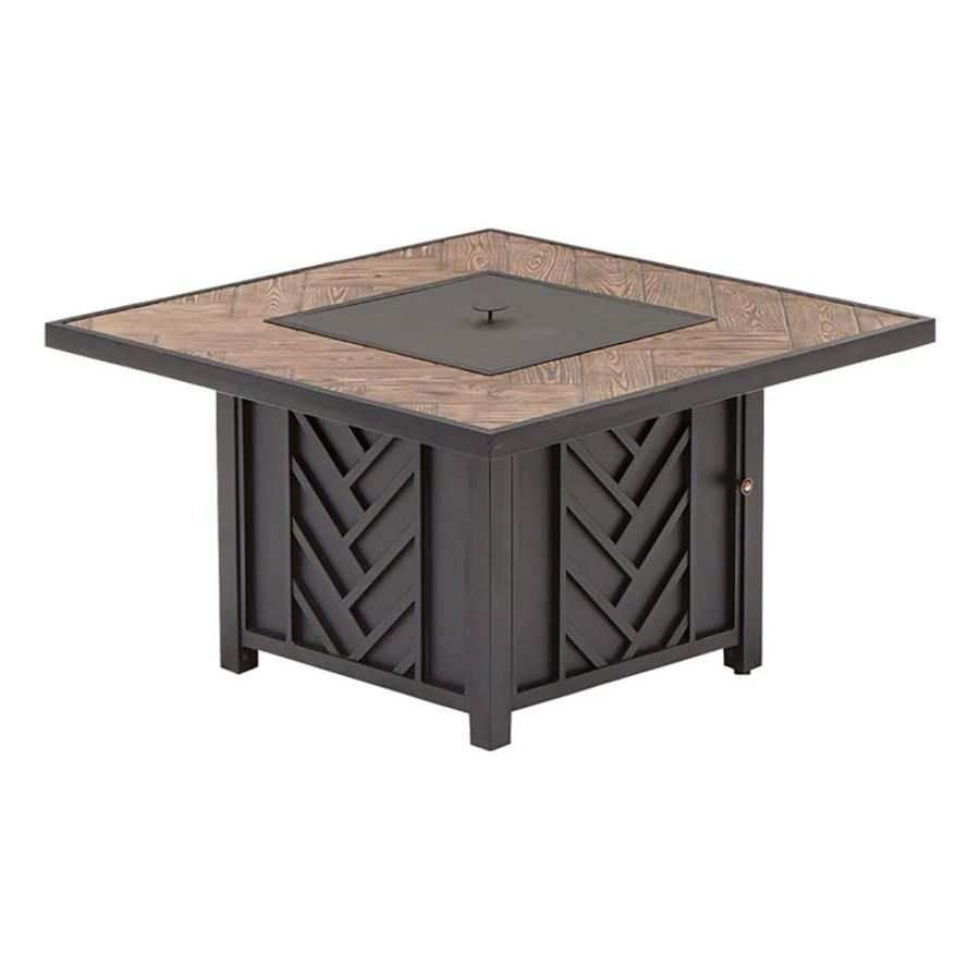 Merveilleux Allen Roth Northvale 42 In W 50000 BTU Black Tabletop Steel Propane Gas Fire  Table
