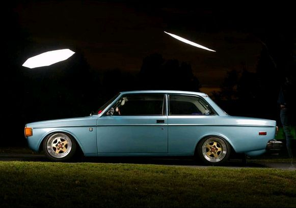 Volvo 142 (And where were you last night around 10:30, and who was driving you)?
