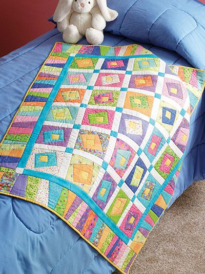 Quilt - Patterns - Out-of-Print Patterns - Creative Log Cabin ... : log cabin baby quilt pattern - Adamdwight.com