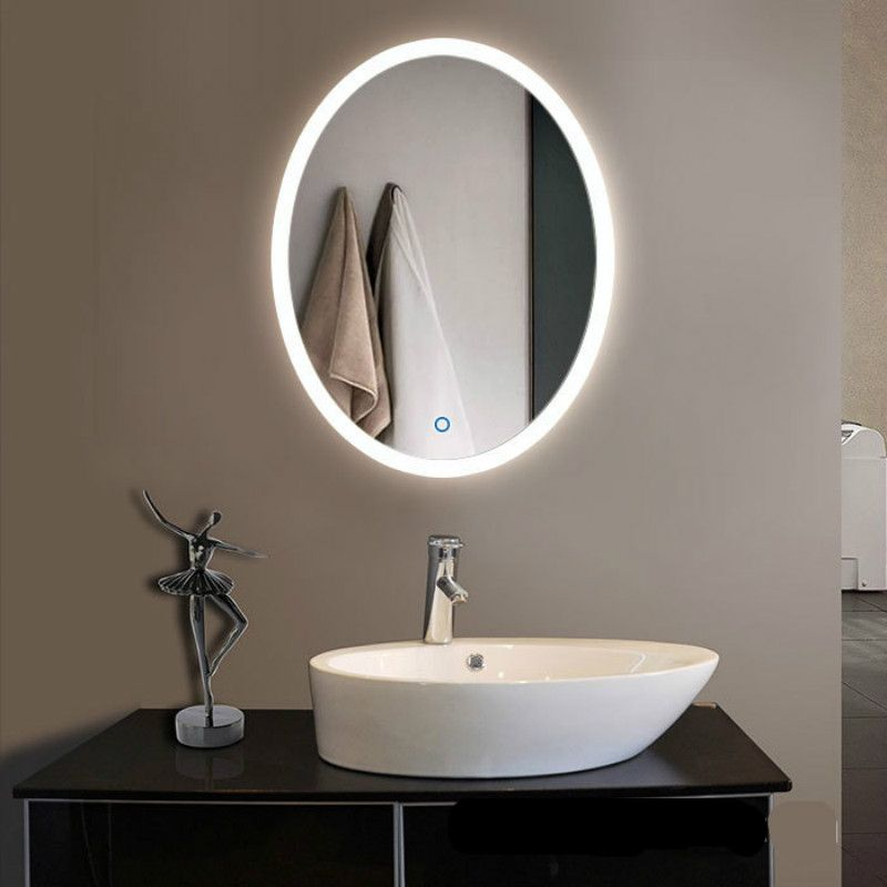 High End Creative Modern Simple Round Oval Led Light Mirror