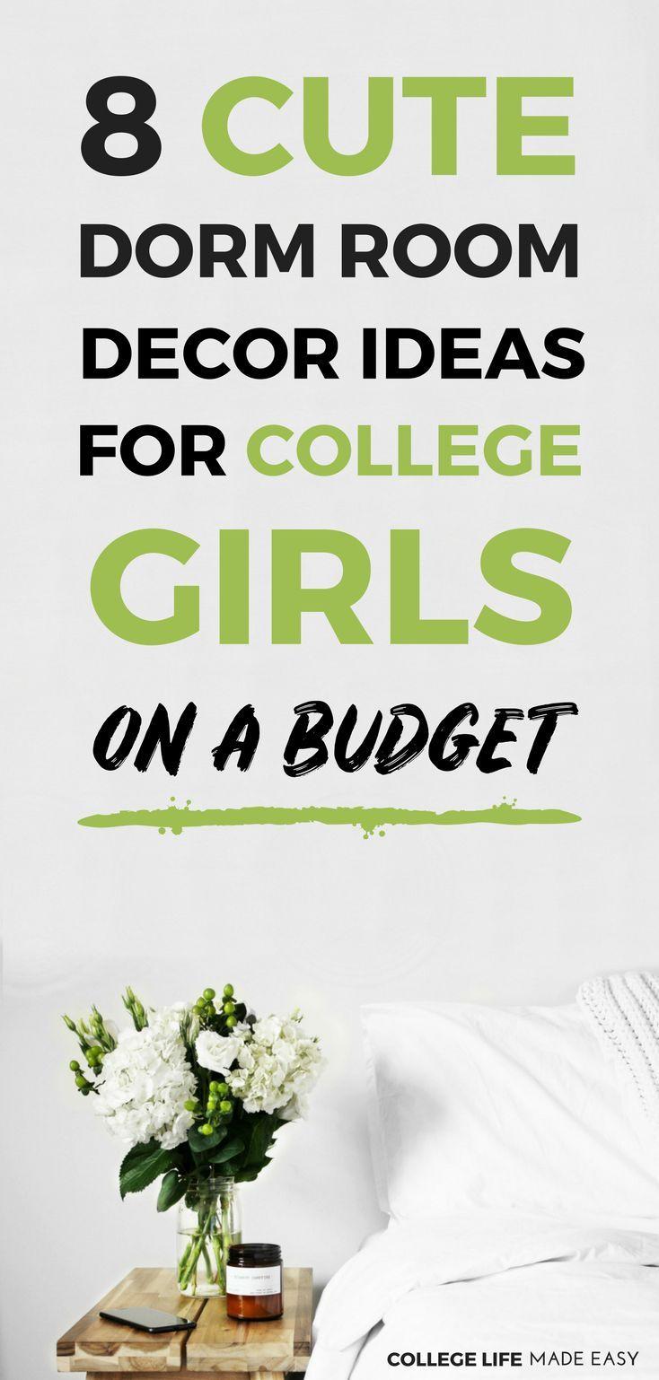 cute college dorm decor ideas for girls on a budget diy wall