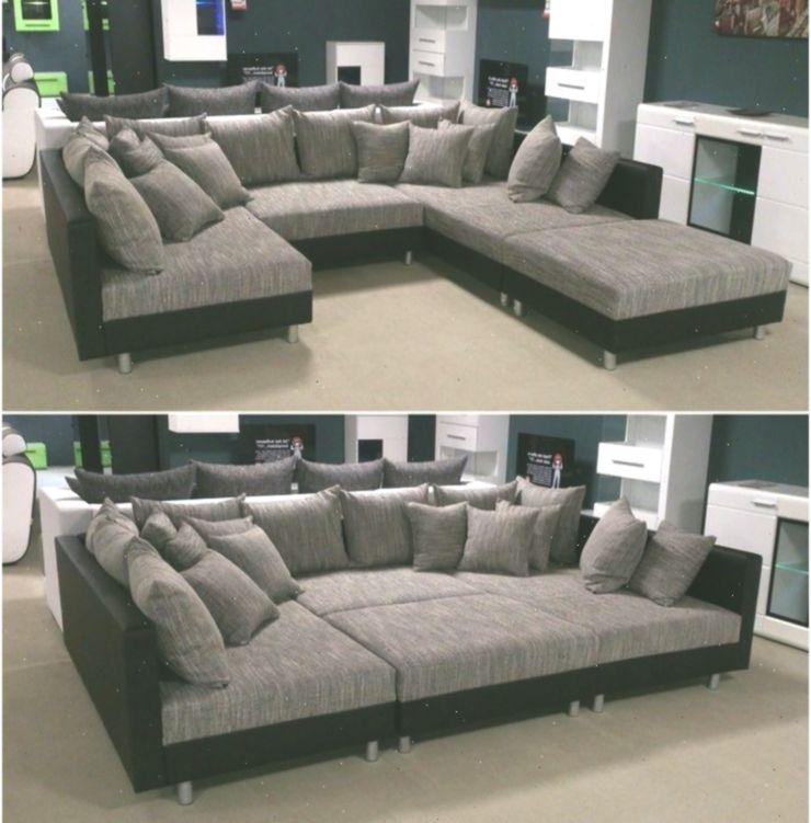 Wohnlandschaft Claudia Xxl Ecksofa Couch Sofa Mit Hocker Schwarz Und Graubeige I Ecke Cornersofa Furniture Sofa Set Luxury Sofa Design Living Room Plan