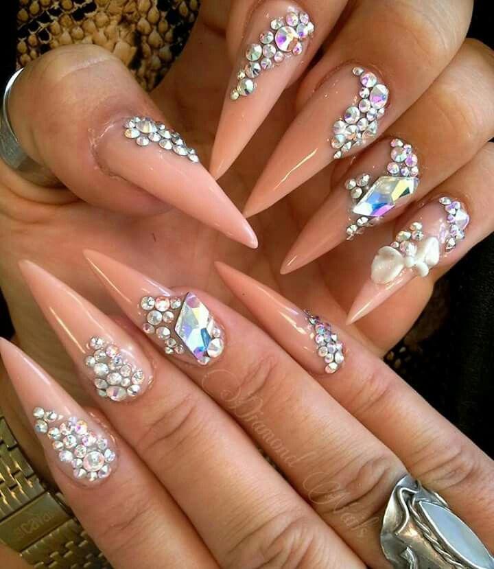 Pin by Valerie Okeefe on fancy nails rhinestones | Pinterest | Bling ...