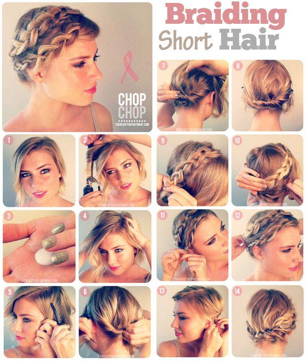 10 Fabulous Hair Tutorials For Short Hair | Short hair and Braid ...