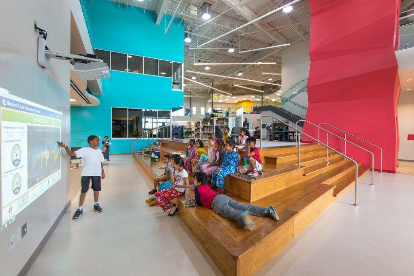 Richard J Lee Elementary School is part of School architecture, Elementary school architecture, Elementary schools, Education architecture, School building, Education design interior - Stantec