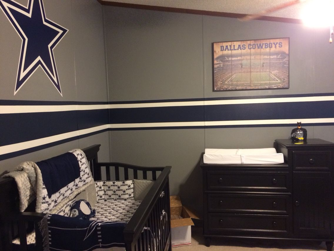 Dallas cowboy 39 s nursery baby room crib paint baby kid for Dallas cowboy bedroom ideas