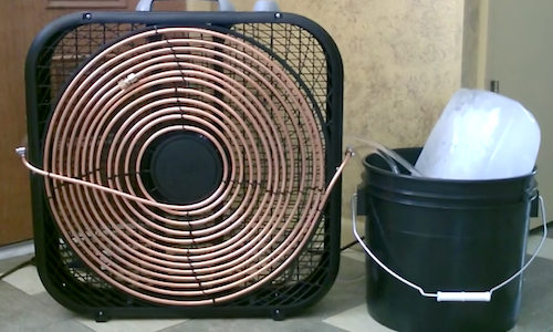 Turn An Old Fan Into A Powerful Air Conditioning Unit