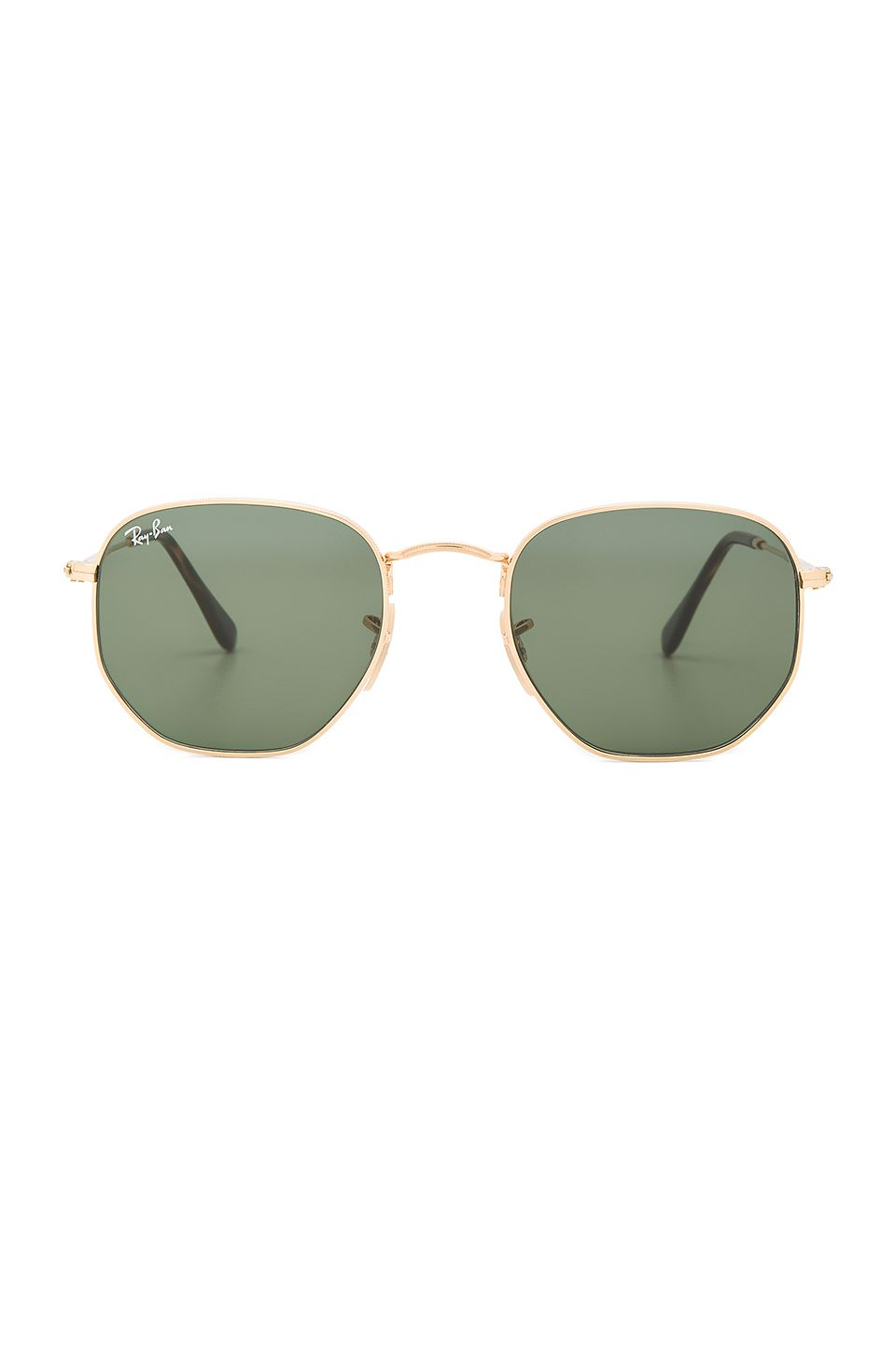 5e3f93fc91dce Ray-Ban Hexagonal Flat Lens in Gold   Silver Flash