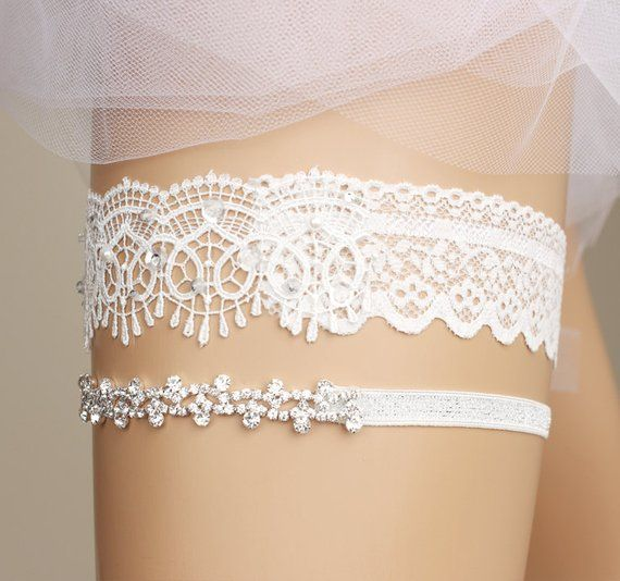 Wedding Garter, Bridal Garter, Toss Garter, Garter Set