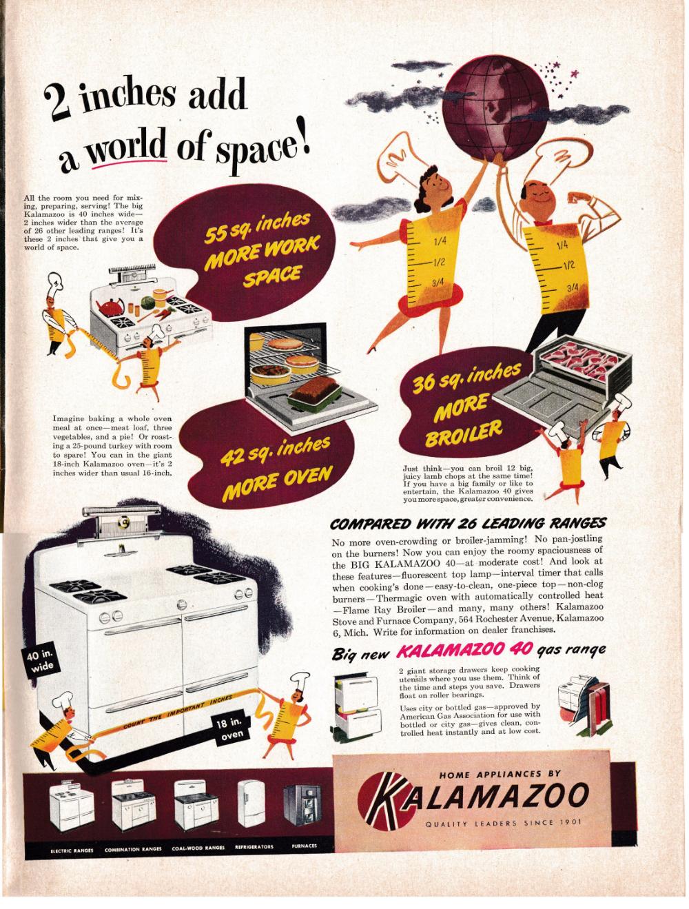 1949 Kalamazoo Oven Gas Range Broiler Original 13 5 10 5 Magazine Ad Gas Oven Magazine Ads Tru Colors