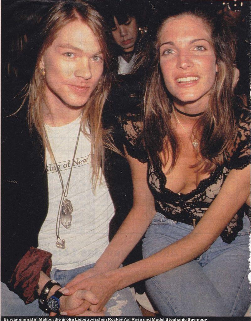 axl rose and exgirlfriend stephanie seymour 1991