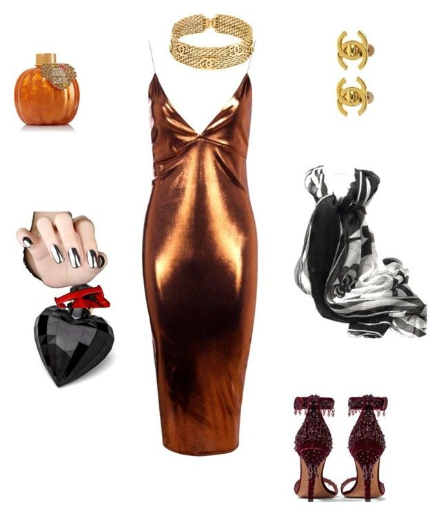 """metalergie"" by rebeccajack-rj ❤ liked on Polyvore featuring Boohoo, Givenchy, Lipsy, Chanel and Emilio Pucci"