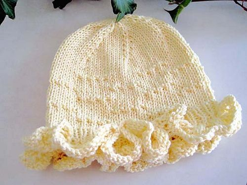Free Pattern: Sunny Day Mob Cap by Kathy North | knitting - baby ...