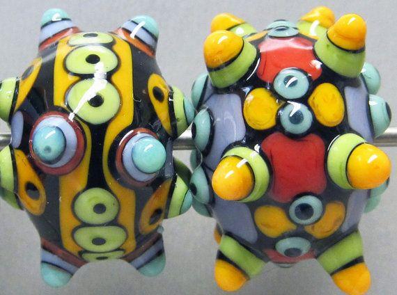 Zuma MIni TrioHandmade Lampwork Glass Beads by beadygirlbeads, $30.00