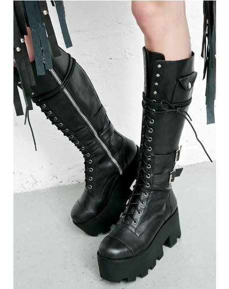 c0aafd307baa5 Obsidian Pocket Combat Boots in 2019 | Stuff to buy | Goth boots ...