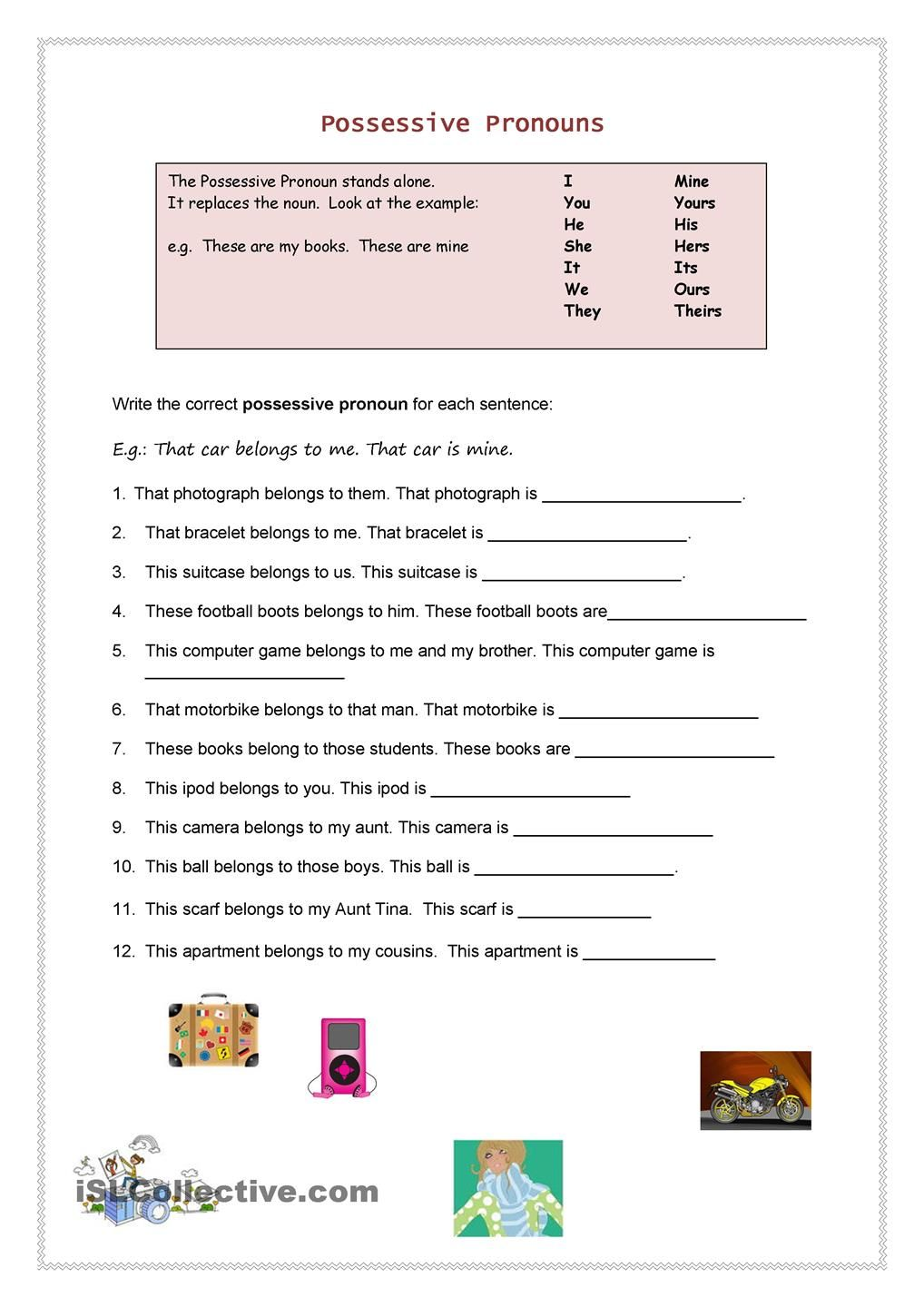 possessive pronouns english grammar english grammar worksheets pronoun worksheets english. Black Bedroom Furniture Sets. Home Design Ideas